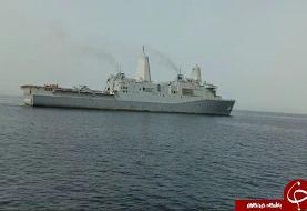 شناسایی ناوگروه نیروی دریایی آمریکا در خلیج فارس از سوی نیروی دریایی ارتش