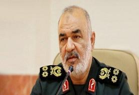 فرمانده کل سپاه بصورت تلفنی از لاریجانی عیادت کرد
