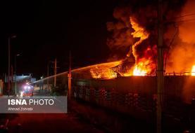 آتشسوزی در انبار ۳ هکتاری چوب
