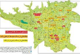 نقشه   محلههای کروناخیز پایتخت