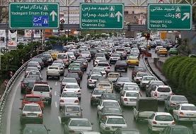 ترافیک سنگین در ۶ بزرگراه پایتخت