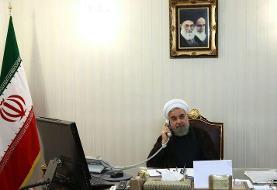 روحانی به مکرون: کشورهای دوست آمریکا را تحت فشار بگذارند