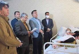 عیادت مسئولان البرزی از دختر تکواندوکار حادثه دیده