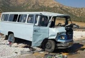 واژگونی مینیبوس در مسیر خاش- ایرانشهر/ ١٩نفر مصدوم شدند