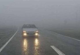 جادههای خراسان شمالی مهآلود و لغزنده است