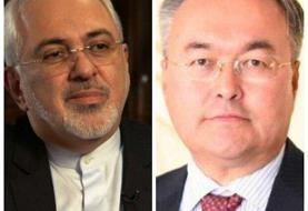 وزرای خارجه جمهوری اسلامی ایران و قزاقستان گفتگو کردند