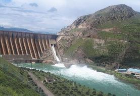 رهاسازی آب سد سفیدرود برای شالیزارهای گیلان