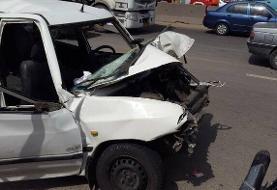 تصادف پراید با کامیون در تهران/ ۳ نفر کشته و زخمی شدند