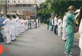 فیلم پشت کردن پرستاران به نخستوزیر در اعتراض بر سر حقوق ها و شرایط کاری