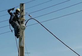 خسارت توفان به تاسیسات برق مازندران