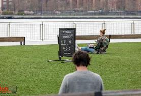 فاصله گذاری اجتماعی در نیویورک (+تصاویر)
