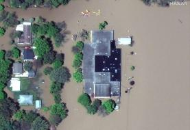 Satellite images show the deluge of floodwater that hit Michigan towns after 2 dams failed