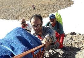 سقوط یک خانم از ارتفاعات شاهوار / عکس