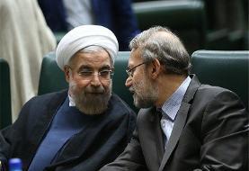 تقدیر ویژه رئیس جمهور از تلاشها و خدمات ارزنده علی لاریجانی در ریاست ۳ دوره مجلس