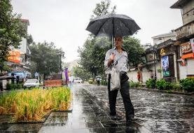 پیشبینی بارش باران در اکثر مناطق کشور/ هوا گرمتر می شود