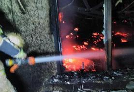 آتشسوزی گسترده در مرکز تجاری بزرگراه بعثت
