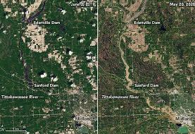 Before and after: See destruction of Michigan flooding in satellite images