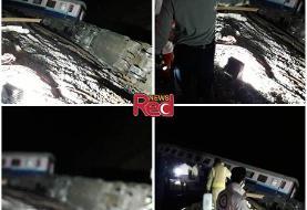 جزییات خروج قطار همدان-مشهد از ریل در حوالی پرند