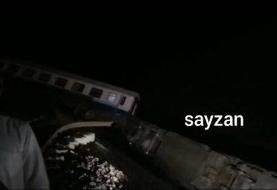 ببینید | قطار همدان - مشهد از ریل خارج شد
