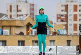 (تصاویر) زندگی ورزشی طناز نجفی ملیپوش دوچرخهسواری