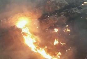 صد هکتار از مراتع دهرود در آتش سوخت