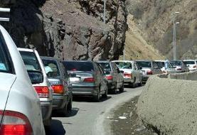 ممنوع شدن تردد وسایل نقلیه از کرج به چالوس