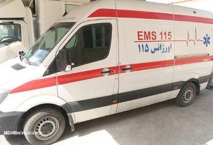 واژگونی خودرو نیروی انتظامی در اسلامشهر