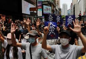 Hong Kong police fire tear gas as protesters decry China security law plan