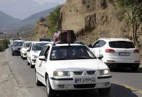 ترافیک در جادههای کندوان سنگین و هراز نیمهسنگین است