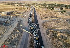 تردد بیشترین خودرو در آزادراه کرج-قزوین