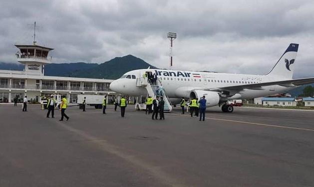 افتتاح فرودگاه رامسر پس از پس از ۵۲ سال انتظار: هواپیمای ایرباس وارد فرودگاه شد