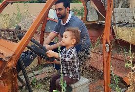 (تصویر) آذری جهرمی با فرزندش سوار ماشین پرخاطره