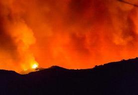 کوه بیرمی در آتش میسوزد!