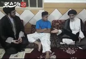 ببینید | عذرخواهی امام جمعه اهواز از پسر مجروح روز سوم خرداد در غیزانیه
