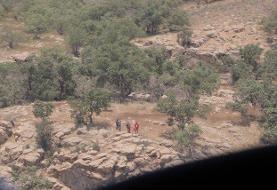 ۳ مصدوم در حین اطفا حریق جنگلهای گچساران