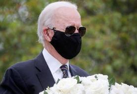 ترامپ ماسک زدن «جو بایدن» را مسخره کرد