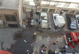 حریق انبار پارچه واقع در خیابان مولوی/حادثه خسارت جانی نداشت