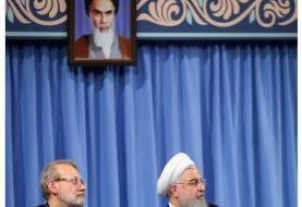 قدردانی رییس جمهور از لاریجانی در فضای مجازی