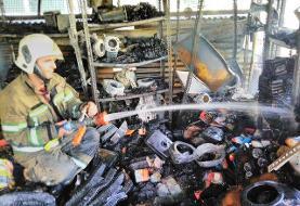 مصدومیت ۵ تن در حریق پاساژ خیابان سعدی