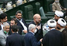 عکسی از نگاه عجیب میرسلیم به قالیباف بعد از انتخاب شدن به عنوان رئیس مجلس