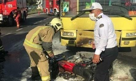 تصادف شدید در بزرگراه آزادگان تهران: سه نوجوان راکب موتورسیلکت دچار سوختگی شدید شدند