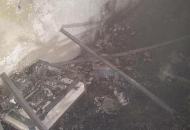 حادثه آتش سوزی در اتاقک کارگری در غرب تهران/ کارگر جان باخت