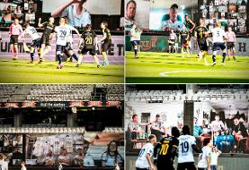 عکس |ابتکار جالب دانمارکیها برای حضور هواداران فوتبال در استادیوم