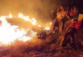 آتش در جان خائیز؛ نیاز فوری به هلیکوپتر آبپاش