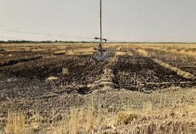 آتشزدن مزارع شبکه برق شوشتر را مختل کرد