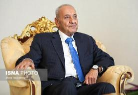 پیام تبریک رئیس پارلمان لبنان به قالیباف