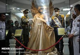 تندیس و تمبر «فرشته مهر» برای پاسداشت مقام شهدای سلامت رونمایی شد