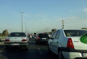 ترافیک نیمهسنگین در محدوده ورودی پایتخت