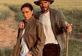 تصویری عاشقانه از دیوید بکهام و همسرش/عکس