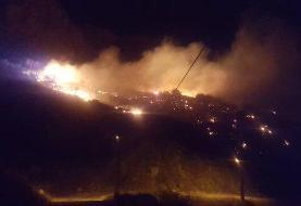 کنترل آتش ۳ روزه در منطقه «خائیز» با پرواز بالگردها
